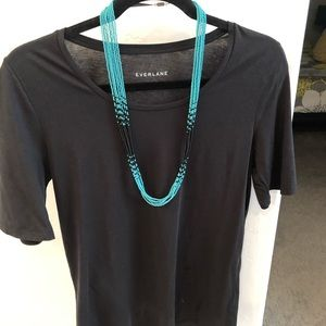 Jewelry - Native American Turquoise & Black Beaded Necklace